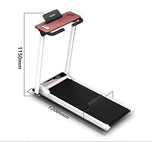 DUDM Silenzioso Tapis Roulant Elettrico Pieghevole Salvaspazio Running Machine for Home con Schermo LCD velocità Regolabile Tappeto da Corsa Fitness Multifunzionale118x56x115cm(46x22x45inch)