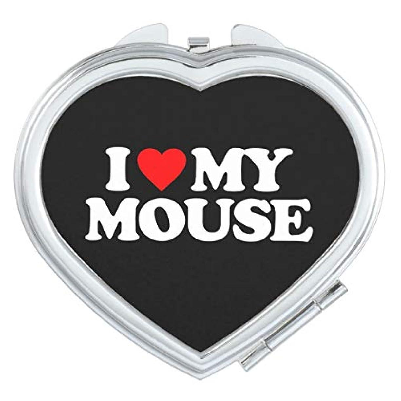 流出模索顕微鏡RECASO ハート コンパクト ミラー 手鏡 ダブル 両面 化粧直し 化粧 鏡 拡大鏡 ハンドミラー レディース 携帯 誕生日プレゼント 引っ越し 挨拶 転勤 お祝い 私は私 マウスを愛します