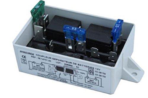 Repartidor de carga electrica batería 12v-40a con relé frigorífrico Scheiber