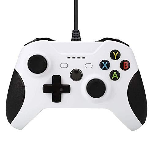 YONGQING Controlador de juegos con cable para Xbox one, controlador de PC...