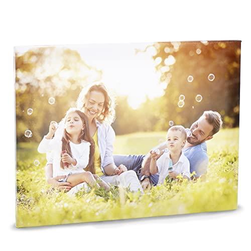 STAMPA FOTO SU TELA | Tela in 100% Cotone Personalizzata con la tua Foto - Massima Qualità di Stampa - Comprende Telaio e Tela (20 cm x 20 cm)