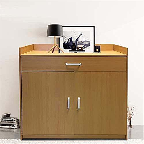 CLJ-LJ Zapatero de madera con 4 estantes y 1 cajón de almacenamiento