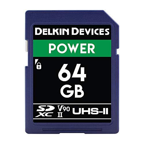 Dispositivos Delkin 64GB de Tarjeta de Memoria SDXC 2000x UHS-II U3/V90