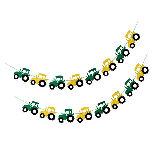 F Fityle 2 Pieces. Tractor Banner Garland Pennant Garland Pennant Chain Hanging Garland for Children's Rooms And Kindergarten