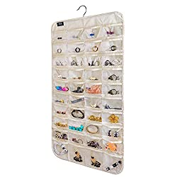 top rated BB Brotrade HJO80 Hanging Jewelry Organizer, 80's Jewelry Pocket Organizer (Beige) 2021
