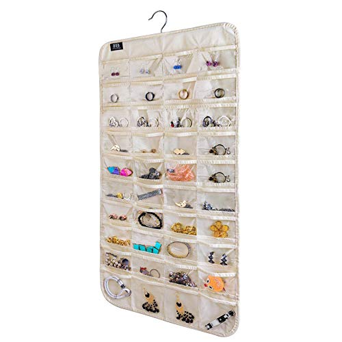 top rated BB Brotrade HJO80 Hanging Jewelry Organizer, 80's Jewelry Pocket Organizer (Beige) 2020