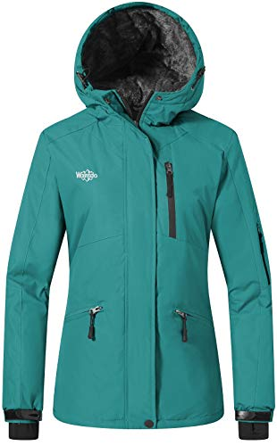 Wantdo Ski Jassen voor Dames Fleece Waterdicht Winter