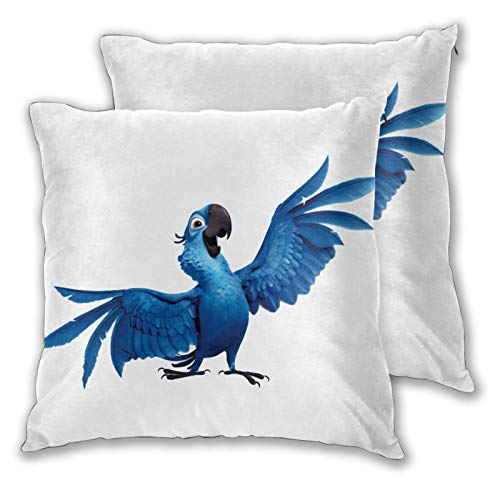 Obbligato Throw Pillow Covers Rio Angry Birds Square Pillowcases Modern Cushion Cases for Sofa Couch Bedroom Chair 16'x16'