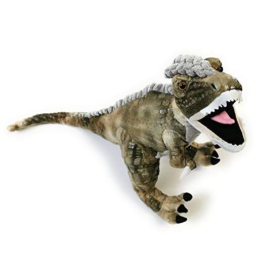 Beppe Plüschsaurier Grosses Plüschtier Dino XL ideales Stofftier Geschenk Dinosaurier Tyranosaurus niedliches Kuscheltier für Kinder und Baby Plüschkissen Tier Kissen Auflage