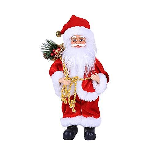 lingzhuo-shop Staande kerstman figuur, Kerstmis staande figuur, grote kerstman figuur, kerstboom pop ornament voor vakantie, party, huisdecoratie handsomely There