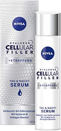 NIVEA Hyaluron CELLular Filler Anti-Age Serum (1 x 40 ml), Anti Falten Creme für Tag und Nacht, zellaktivierende Feuchtigkeitscreme, Gesichtscreme mit Hyaluron