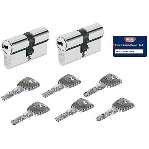 Preisvergleich Produktbild ABUS XP20S Doppelzylinder Codekarte,  Bohrschutz,  Not- und Gefahrenfunktion,  gleichschließend (2 Stück 30 / 35 mm mit 6 Schlüssel)