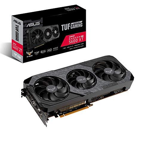 ASUS AMD Radeon TUF 3 RX5600XT 6GB EVO Top Edition Gaming Graifkkarte (GDDR6 Speicher, PCIe 4.0, 1x HDMI 2.0b, 3x DisplayPort 1.4, TUF 3-RX5600XT-T6G-EVO-GAMING)