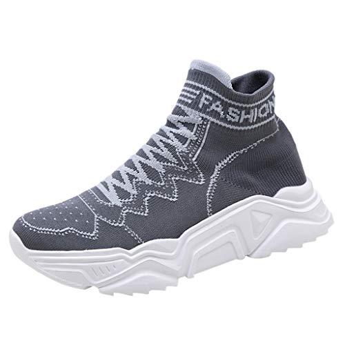 Vovotrade Sportschoenen voor heren, lichte ademende Plateau sneakers, dames en heren, slip-on wandelschoenen, sokken, schoenen, By
