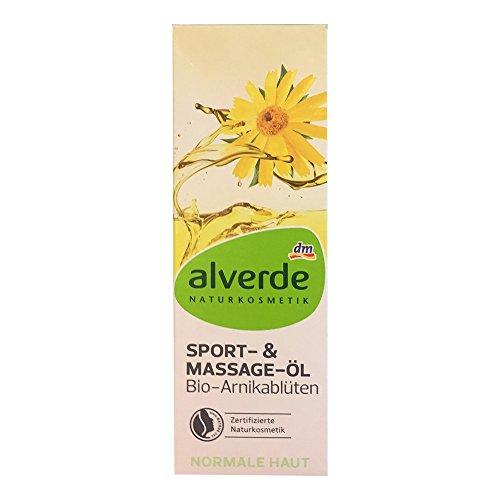 Alverde Sport- und Massageöl Arnikablüten (100ml Flasche)