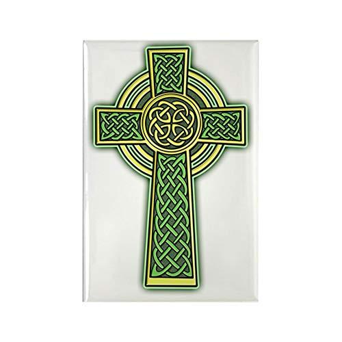 CafePress Celtic Cross 2 Light Rectangle Magnet, 2'x3' Refrigerator Magnet