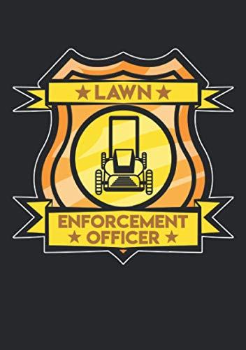 Notizbuch A5 kariert mit Softcover Design: Lawn Enforcement Officer Offizieller Rasen Inspektor Gärtner: 120 karierte DIN A5 Seiten