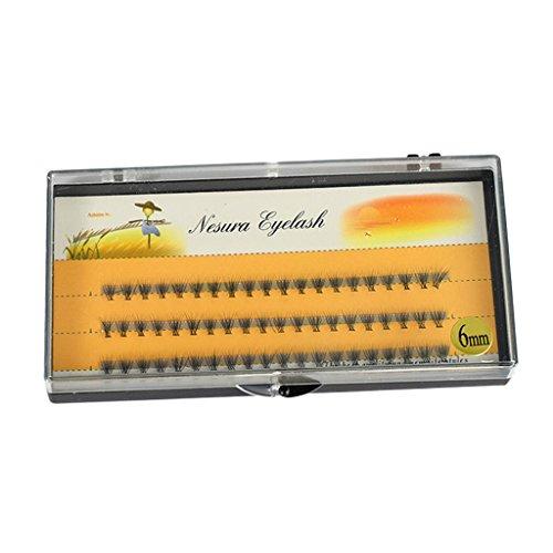 SM SunniMix 1 Boîte 60 Coups De Cils 6mm Faux Noir Extension Individuelle Cils Cils Maquillage