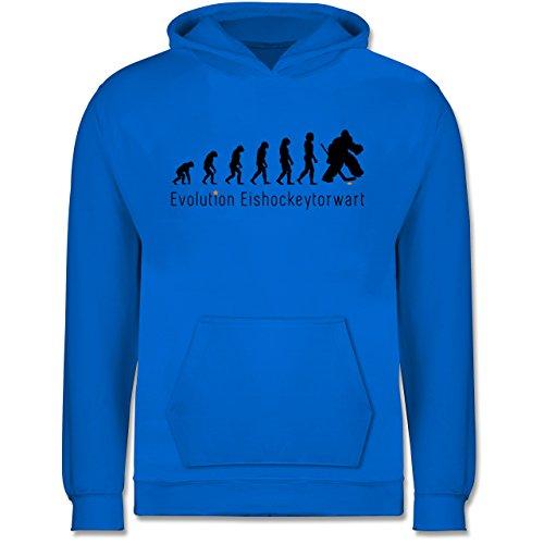 Shirtracer Evolution Kind - Eishockeytorwart Evolution - 98 (1/2 Jahre) - Himmelblau - Eishockey Torwart - JH001K - Kinder Hoodie