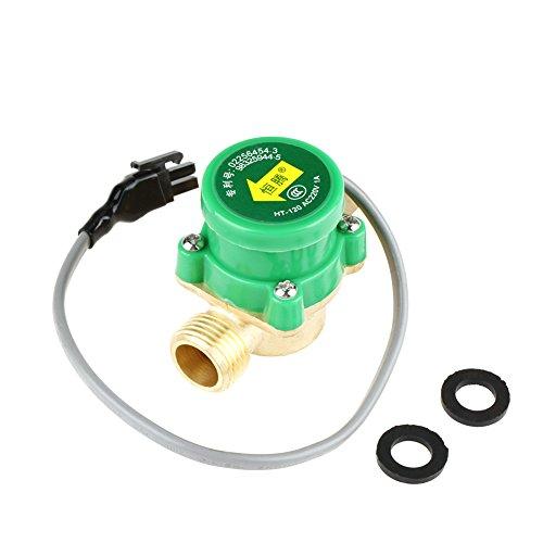 Interruptor de flujo de bomba de agua, 1 PCS HT-120 AC220V 0.5A G1 / 2'-1/2' Sensor de interruptor de control de flujo de agua de rosca