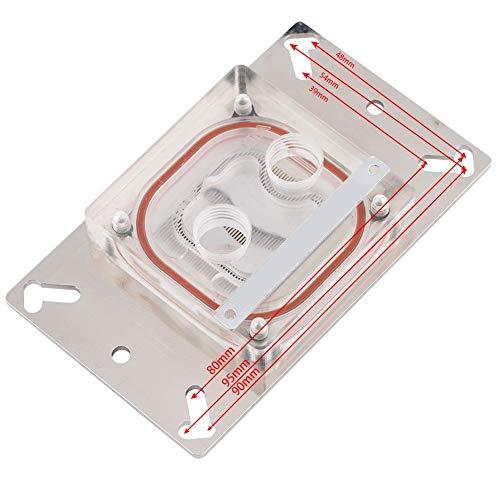 Bloque de refrigeración por agua de CPU, bloque de refrigeración por agua de CPU universal profesional para CPU AM2 / AM2 + / AM3 / AM3 + / AM4 / FM2 +, canal interior frío con base de cobre