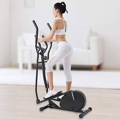 AYNEFY Sports Crosstrainer Ellittica Cyclette Sport Cyclette Crosstrainer per casa con monitor LCD, dispositivo fitness per casa, ufficio, sistema frenante magnetico (nero)