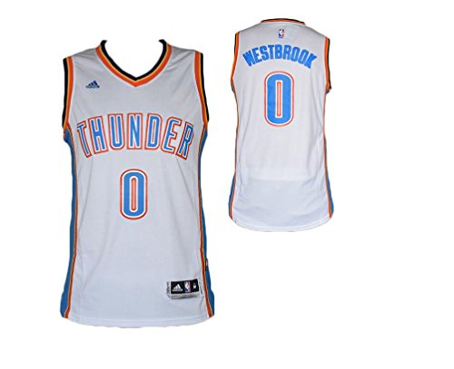 NBA Replica Maglia Canotta Russel Westbrook Oklahoma City Thunder-Bianca- XL