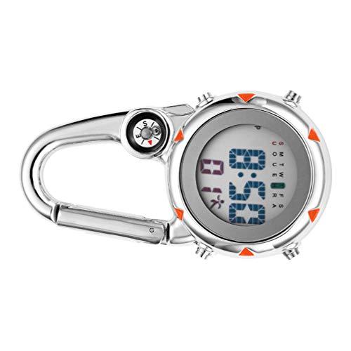 Abaodam Clip- Auf Quarzuhr Rucksack Fob Gürtel Uhr Taschenuhr für Ärzte Krankenschwestern Outdoor- Aktivitäten (Blau)