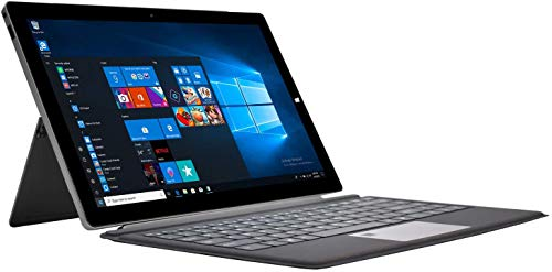 Winnovo 2 in 1 Laptop Touch Windows 10 64 Bit, 13,3 Zoll Notebook FHD IPS Intel Pentium N4200, 4GB RAM, 64GB eMMC, AC WiFi, Type-C, HDMI, USB 3.0, SSD, QWERTZ Backlit Tastatur mit Fingerabdruck, Grau