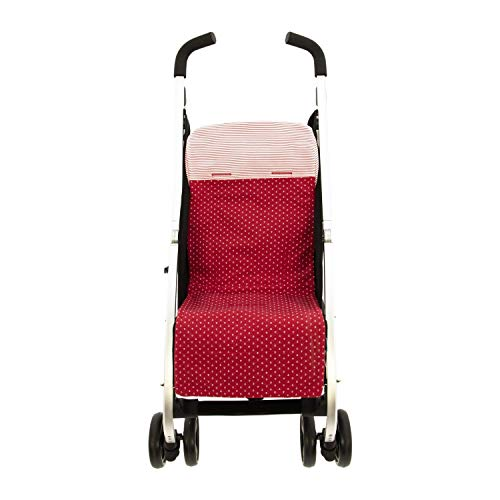 Colchoneta o funda de Paseo para silla Ligera Rosy Fuentes en color rojo