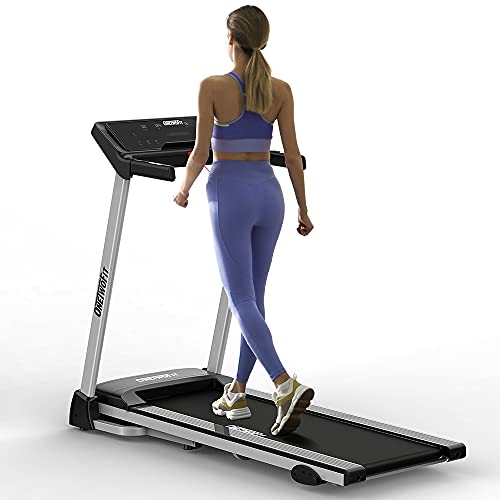 ONETWOFIT Folding Treadmill with 7.46 MPH Max Speed/Space Saving/Fixed Incline,Electric Treadmill with 264 lbs High Weight Capacity for Home Office Use Exercise Walking Machine OT178UK