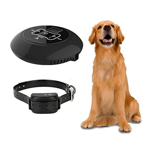 Sucastle GPS Sistema inalámbrico de valla para perros Sistema de contención de mascotas con receptor de collar de adiestramiento de perros a prueba de agua IP67, rango ajustable 10-150 metros, inofens