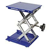 Labor - Mesa de pie de aluminio galvanizado para laboratorio, plataforma elevadora (200 x 200 x 280 mm), color azul