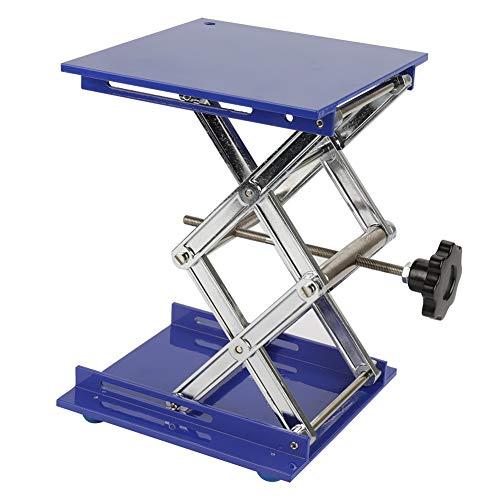 Labor - Mesa de pie, color azul, de aluminio galvanizado, plataforma elevadora para laboratorio, soporte para rack, tijeras y elevadores, 200 * 200 * 280mm, 1