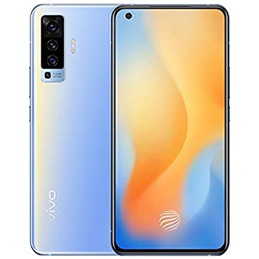 """Original X50(V I V O) 5G Mobile 8G+256GB Snapdragon765G 6.56"""" AOMLED 2376x1080P 48MP 4200mAh NFC 33W Charge Fingerprint Android10 Smartphone Support Google by-(Real Star Technology) (Blue 8+256)"""