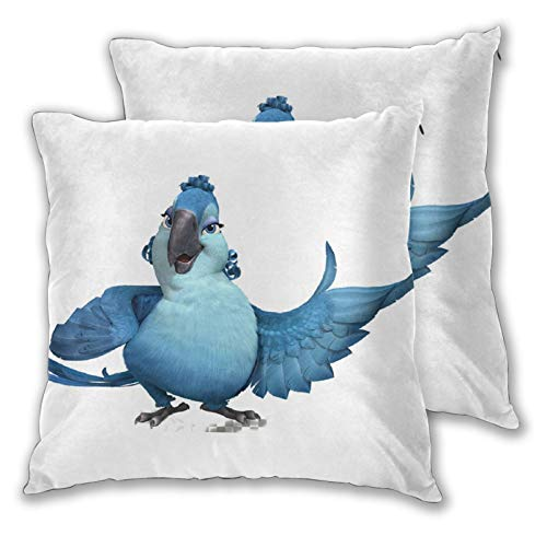Obbligato Throw Pillow Covers Rio Angry Birds Square Pillowcases Modern Cushion Cases for Sofa Couch Bedroom Chair 18'x18'