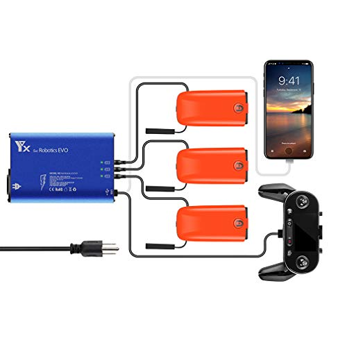 Hanatora 5 in 1 Battery Charger for Autel Robotics EVO Drone and Remote Conteller,Rapid Multi Parallel Charging Hub Accessories