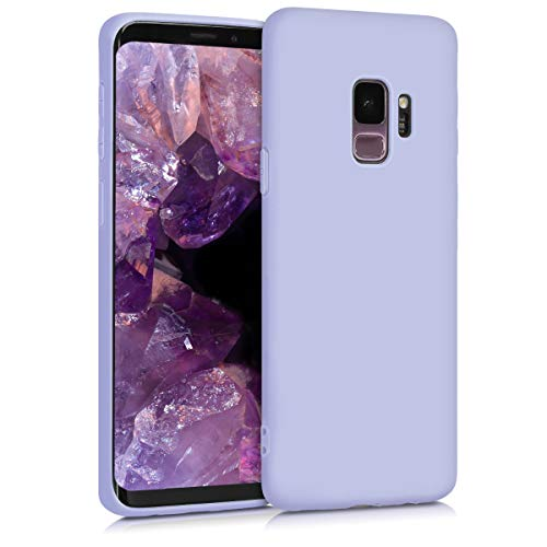 kwmobile TPU Silicone Case Compatible with Samsung Galaxy S9 - Soft Flexible Protective Phone Cover - Light Lavender