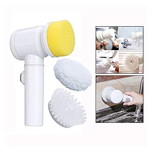 5 In 1 Magische Borstel Nylon Multifunctionele Elektrische Badkuip Huishoudelijk Gereedschap Bad Keuken Schoonmaakborstel Glazenwasser