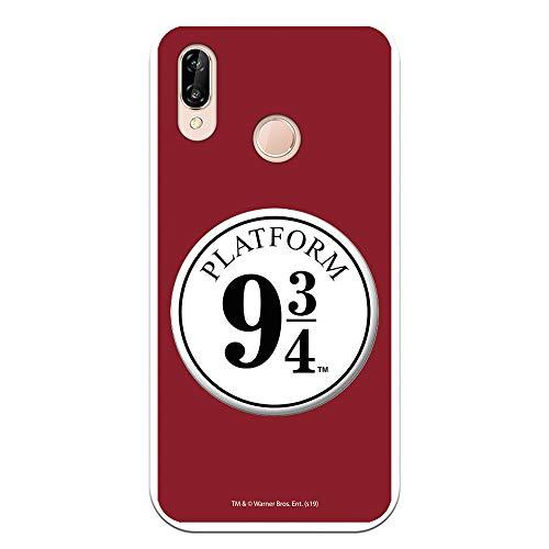 Funda para Huawei P20 Lite Oficial de Harry Potter Anden 9 3/4 para Proteger tu móvil. Carcasa para Huawei de Silicona Flexible con Licencia Oficial de Harry Potter.