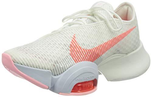 Nike Air Zoom Superrep 2, Gymnastics Shoe Mujer, Summit White/Bright Crimson-Football Grey-Arctic Punch-Metallic Silver-Sunset Pulse, 39 EU