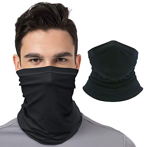 CUIMEI Cooling Neck Gaiter Face Mask Bandanas for Men Women Face Cover Scarf Sun UV Breathable