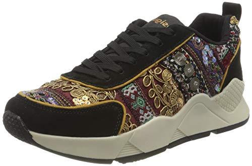 Desigual Shoes_Hydra_Exotic, Zapatillas para Mujer, Negro, 39 EU