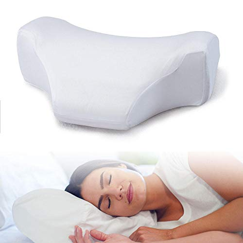 SLEEP YOUNG Anti-Wrinkle Pillow Made in USA – Cervical Side Sleeping Memory Foam Pillow – Neck Support – Wrinkle Prevention Cushion with Pillowcase – Ergonomic Cervical Pillow – Antiwrinkle Beauty