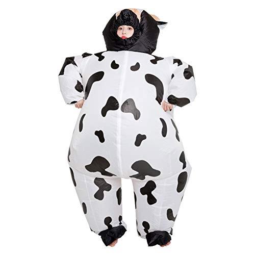 LINAG Fasching Aufblasbares Kostüm für Erwachsene Karneval Halloween Kostüm, Aufblasbare Kuh Kostüm Party Geschenk Phantasie Dress up Cosplay Party Kostüm,A,OneSize