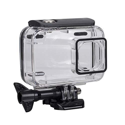 Serounder Estuche para cámara submarina, Cubierta Protectora de la Carcasa de Buceo de 45 m. Cubierta de acrílico Transparente Alta para Xiaomi Yi 2 4k Cmaera. (Negro)