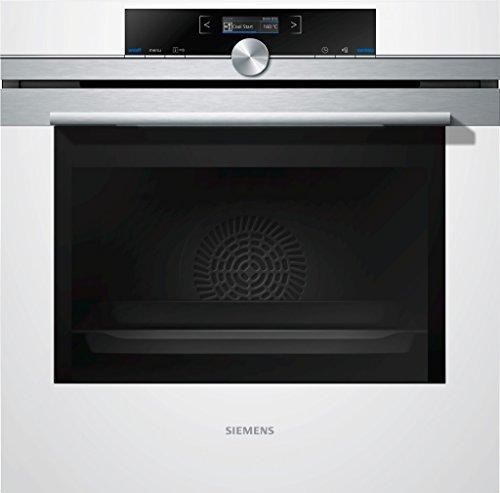 Siemens iQ700 Einbau-Elektro-Backofen HB634GBW1 / Weiß / A+ / coolStart-kein Vorheizen / Backofentür mit SoftMove für gedämpftes Öffnen und Schließen / 4D Heißluft