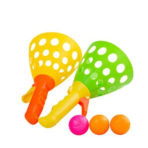 SY-Home Et Catch Toss Balle Racket Set Toy pour Filles, garçons, Adultes, intérieur et extérieur - Promouvoir la motricité Fine et améliorer la Coordination des Yeux à la Main
