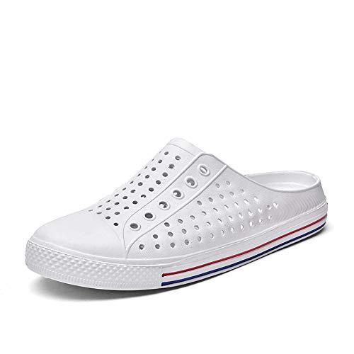 Zapatillas Casa Chanclas Sandalias Sandalias para Hombres Zapatos con Agujeros Sandalias para Hombres Zapatos para Parejas Unisex Blancos para Mujeres Zapatillas De Playa-White_38