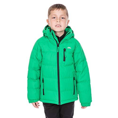 Trespass TUFF chłopięcy codzienny wyściełany ciepły zimowy płaszcz kurtka koniczyna